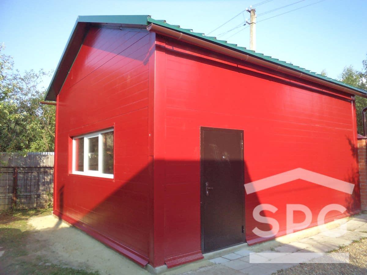 Высокий гараж 6х7х3,6 с хозблоком двускат